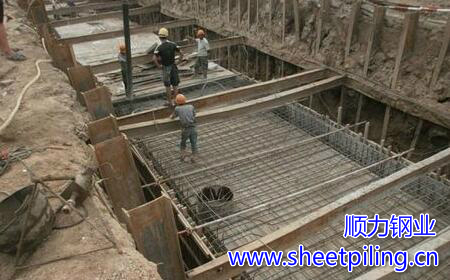 Piling steel sheet piles construction process on how to correct skewed