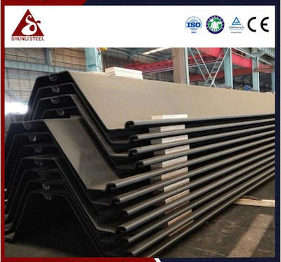 Design of Large Quantity Z Type Steel Piling Wall
